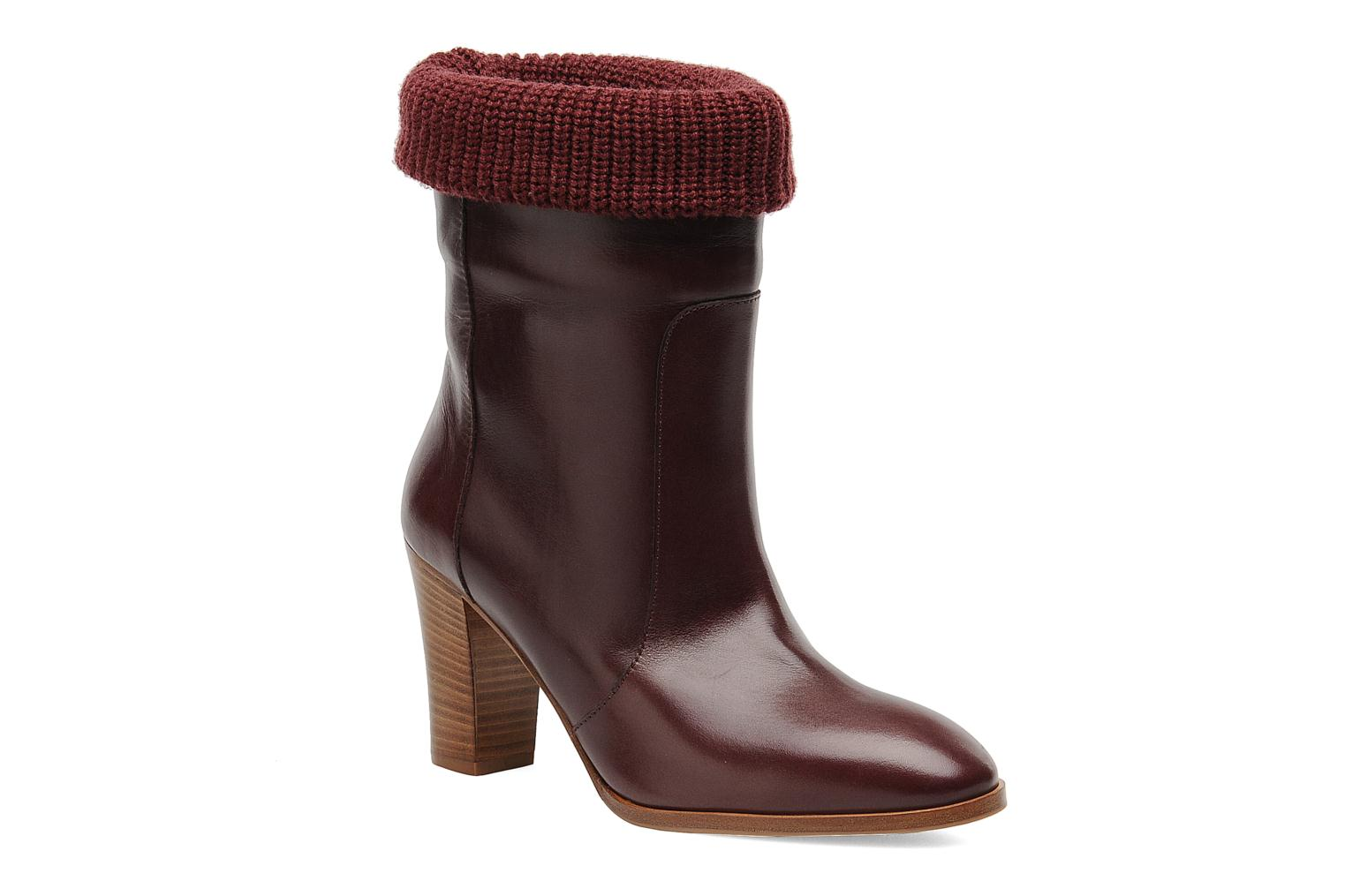 Ankle boots Sonia Rykiel Sepia Burgundy detailed view/ Pair view