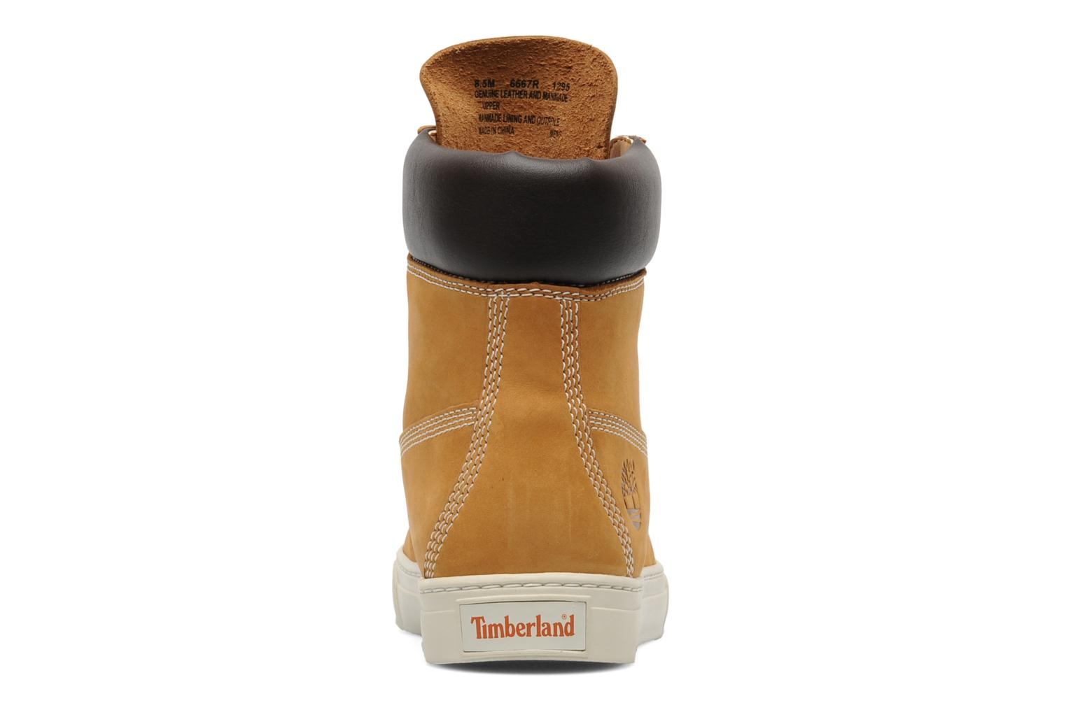 Baskets Timberland 6 In 2.0 Cupsole Beige vue droite