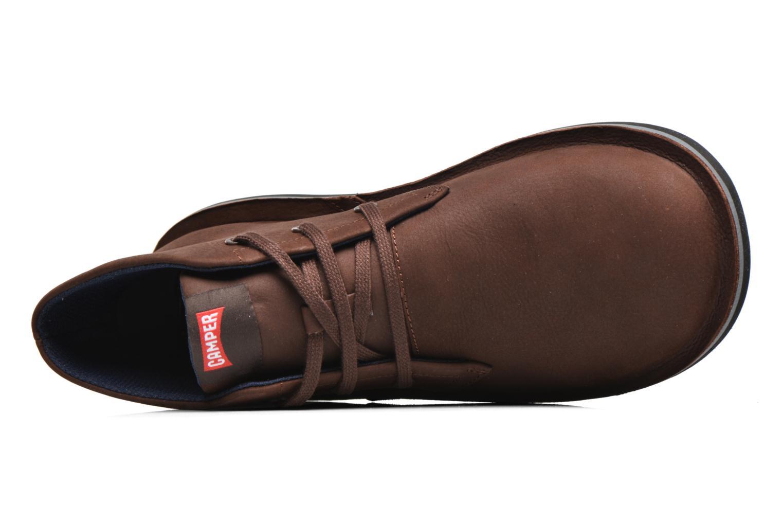 Chaussures à lacets Camper Beetle 36530 Marron vue gauche