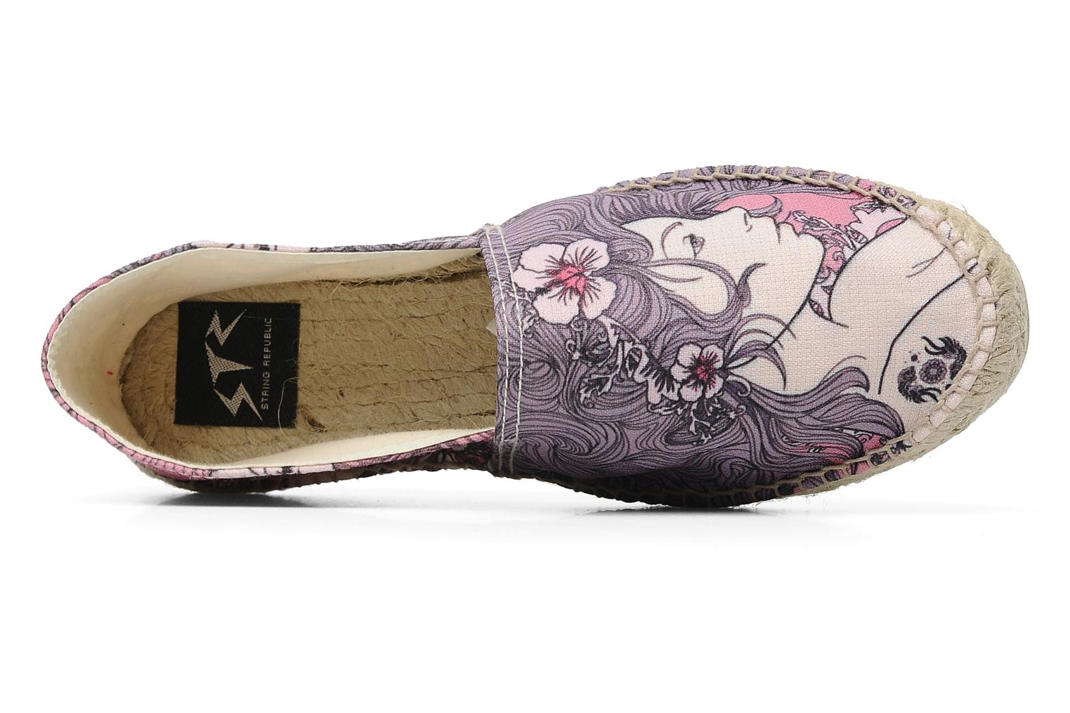 Espadrilles String Republic Berry by JWLS W Paars links