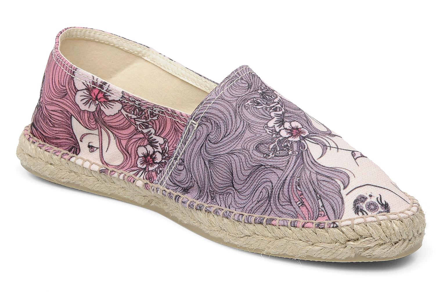 Espadrilles String Republic Berry by JWLS W Paars detail