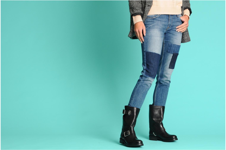 Stiefeletten & Boots Vanessa Bruno Vinia schwarz ansicht von unten / tasche getragen