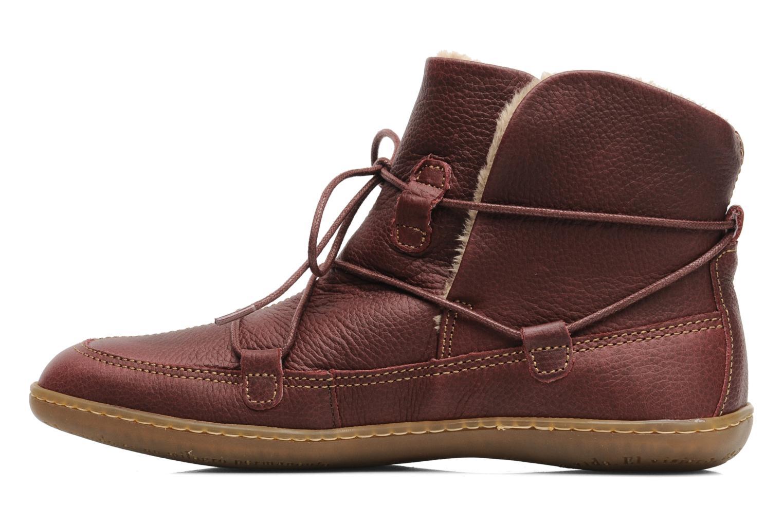 Bottines et boots El Naturalista Viajero N265 Bordeaux vue face