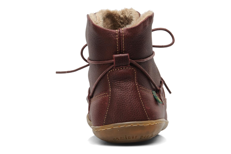 Bottines et boots El Naturalista Viajero N265 Bordeaux vue droite