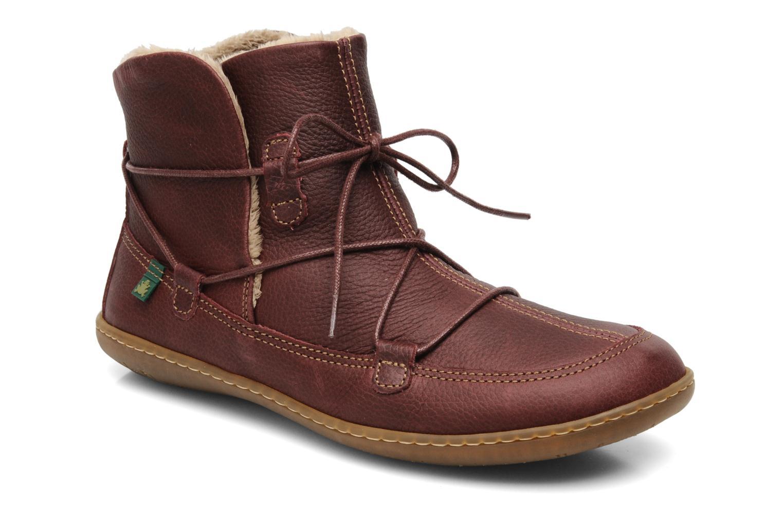 Bottines et boots El Naturalista Viajero N265 Bordeaux vue détail/paire