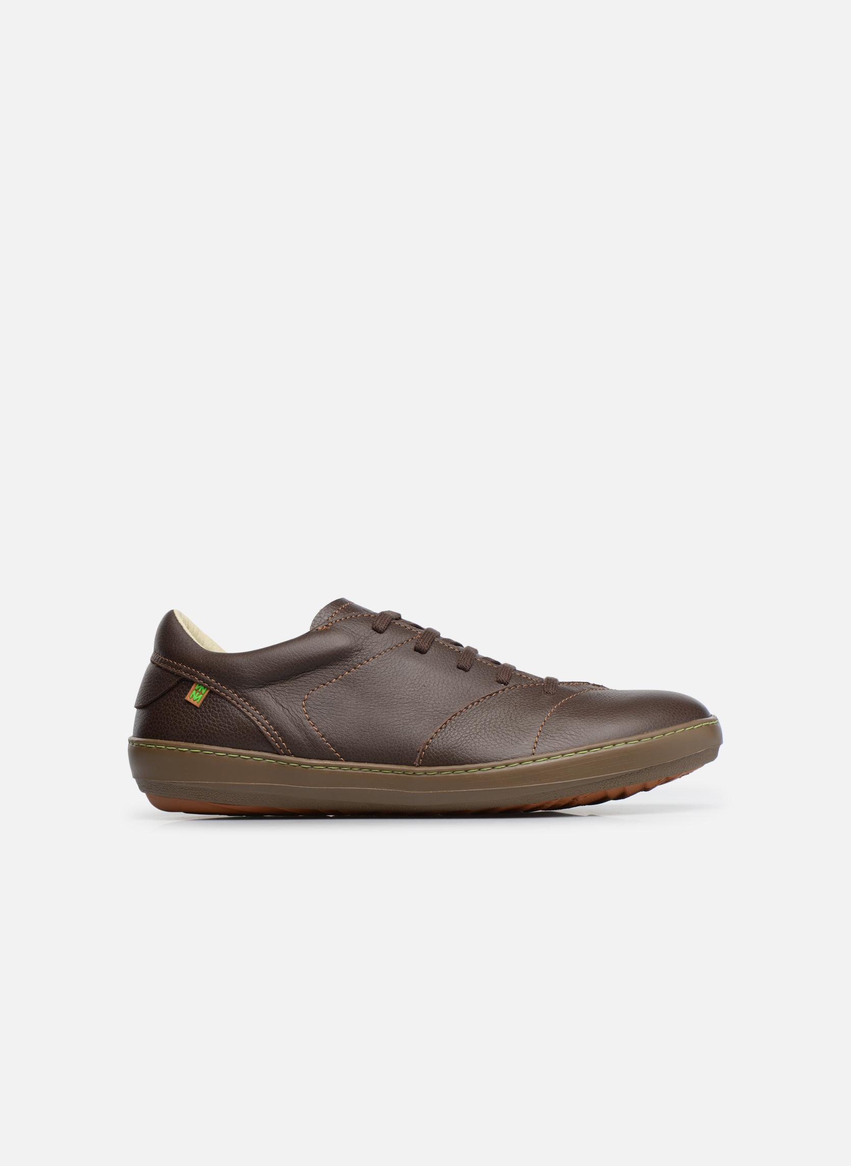 Zapatos con cordones El Naturalista Meteo N211 Marrón vistra trasera