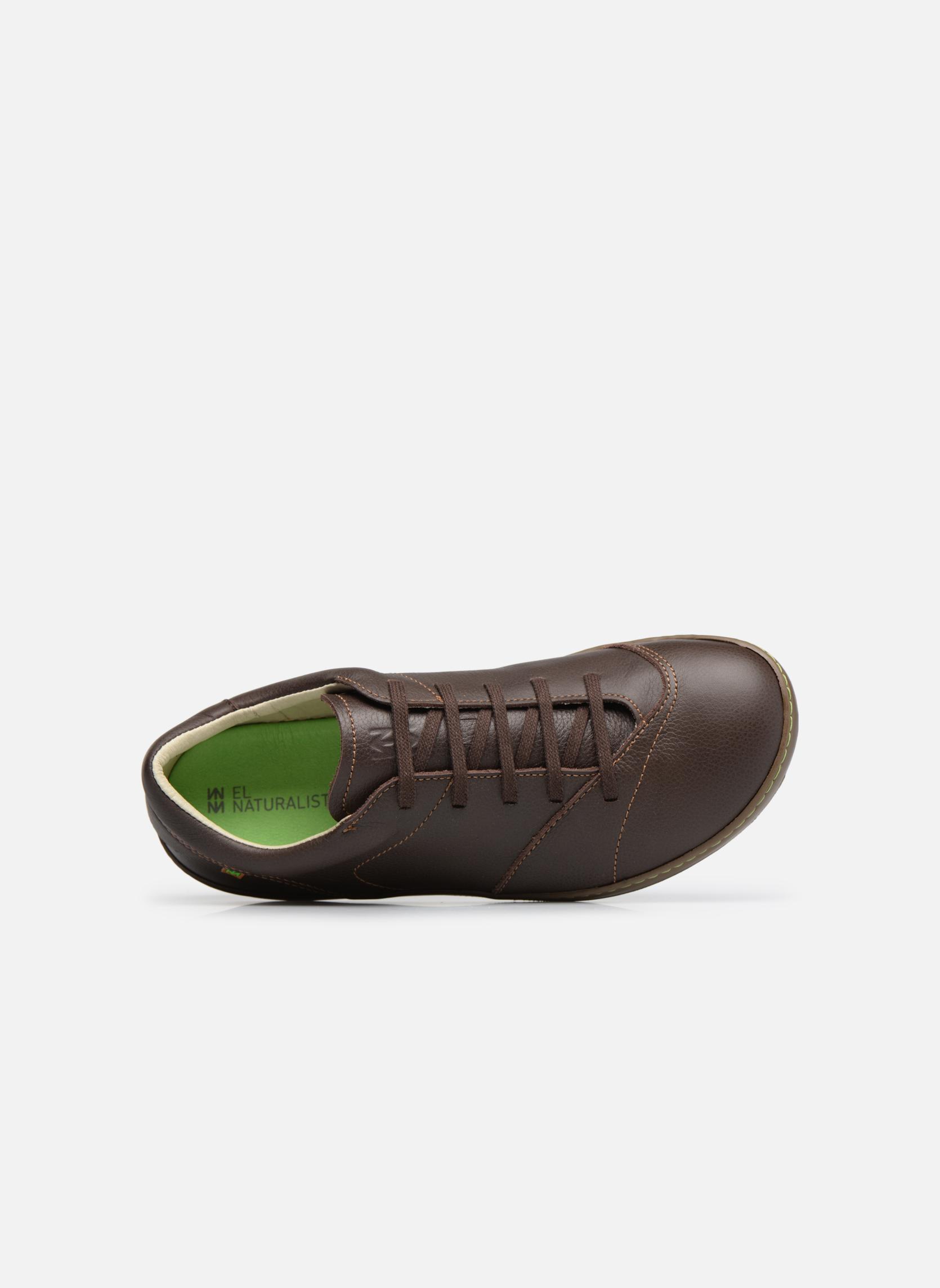Zapatos con cordones El Naturalista Meteo N211 Marrón vista lateral izquierda
