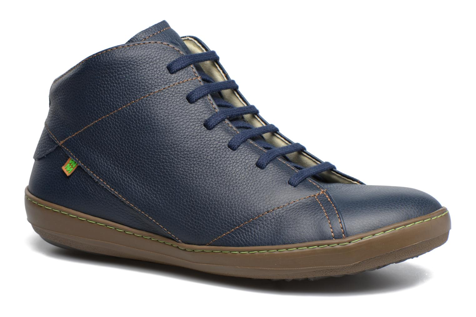 Lace-up shoes El Naturalista Meteo N212 Blue detailed view/ Pair view