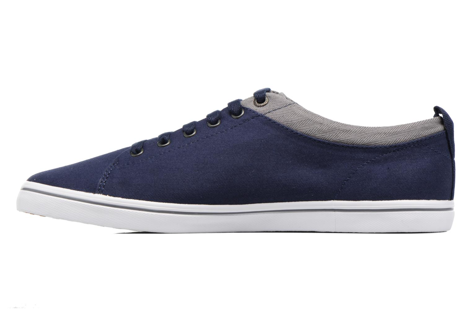 Baskets Fred Perry Hallam Twill Bleu vue face