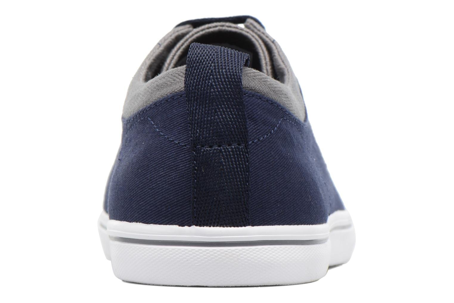 Baskets Fred Perry Hallam Twill Bleu vue droite