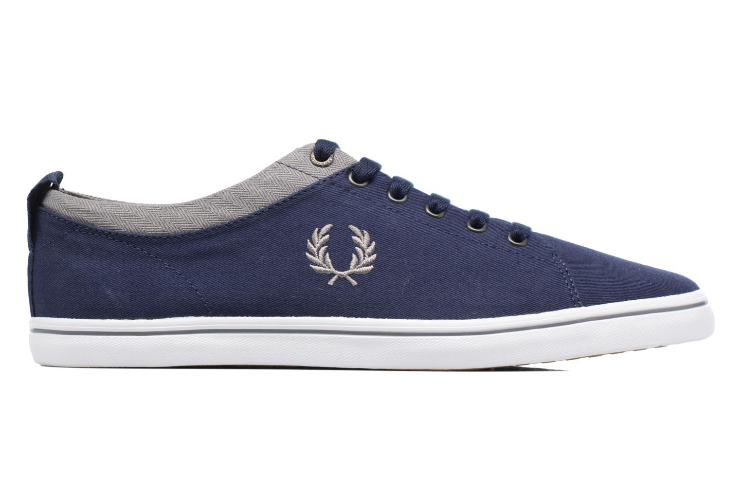 Baskets Fred Perry Hallam Twill Bleu vue derrière