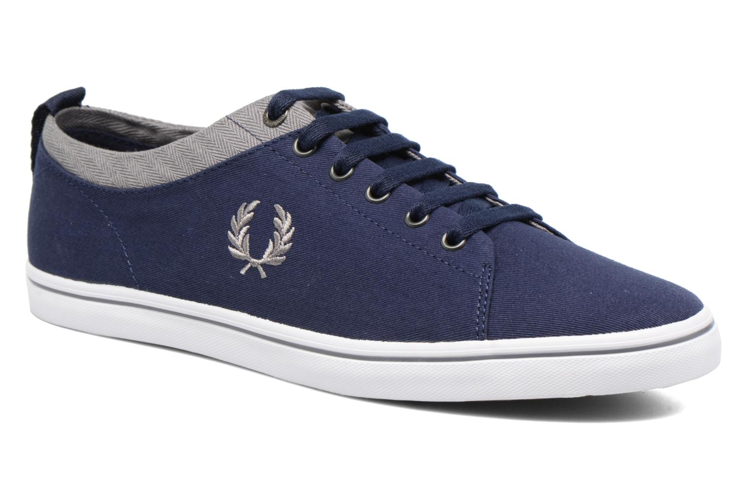 Baskets Fred Perry Hallam Twill Bleu vue détail/paire