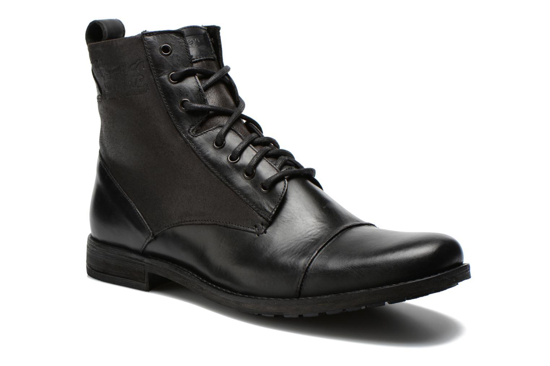 Levi's Maine Lace Up (Noir) - Bottines et boots chez Sarenza (245585)