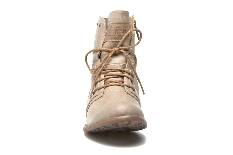 Bottines et boots Mustang shoes Mirjam Beige vue portées chaussures