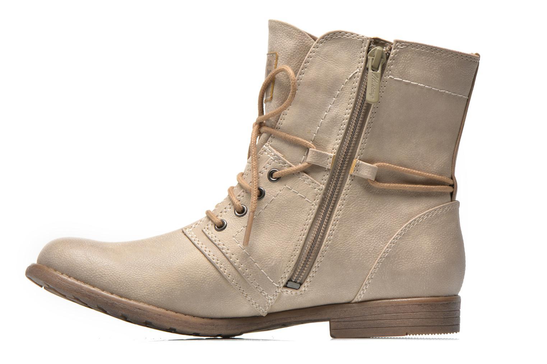 Bottines et boots Mustang shoes Mirjam Beige vue face