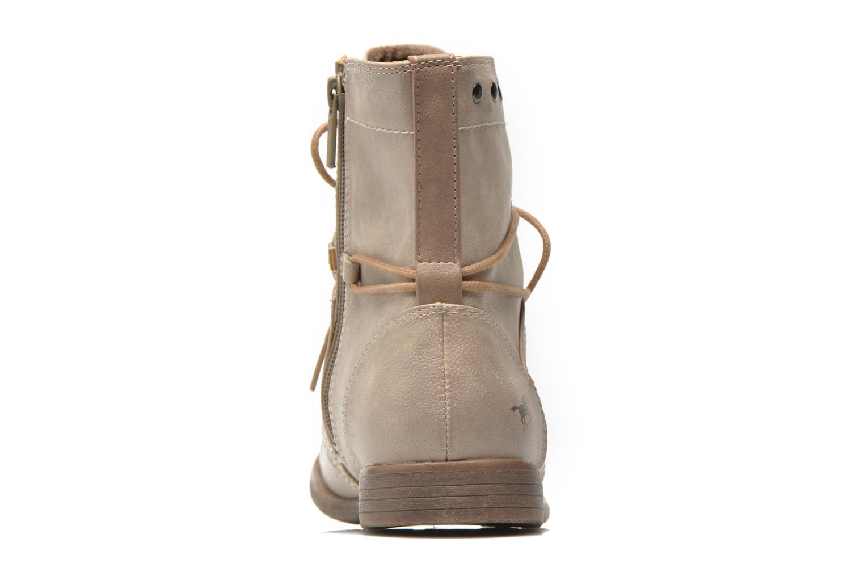 Bottines et boots Mustang shoes Mirjam Beige vue droite