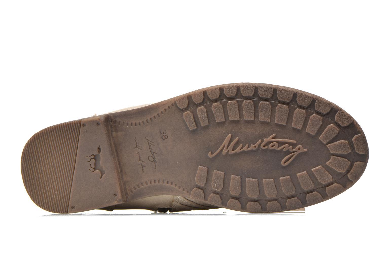 Bottines et boots Mustang shoes Mirjam Beige vue haut
