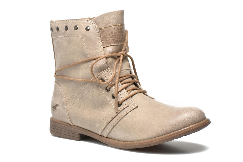 Bottines et boots Mustang shoes Mirjam Beige vue détail/paire
