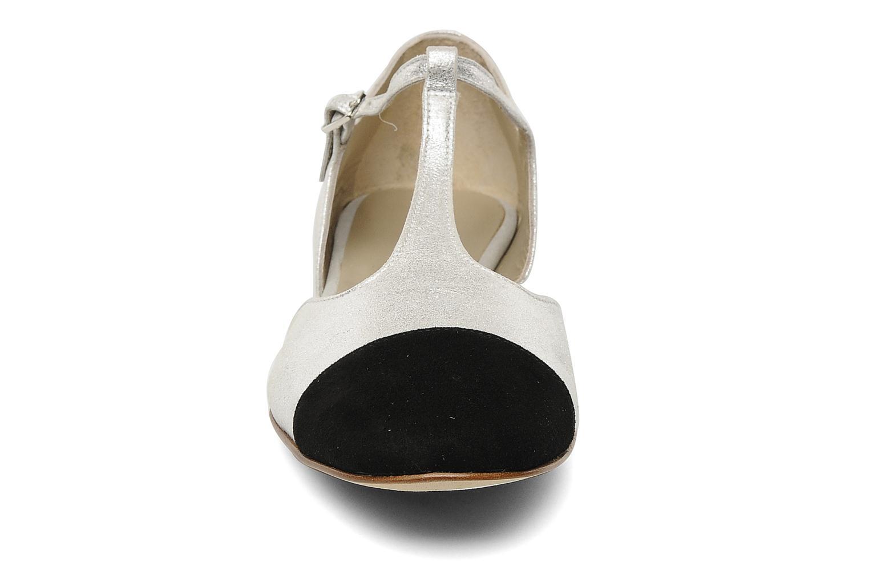 Sandalen Georgia Rose Jessey CFT silber schuhe getragen