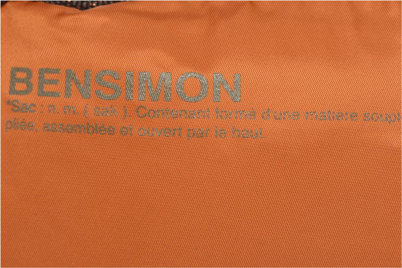 Handtaschen Bensimon Small Besace orange ansicht von links