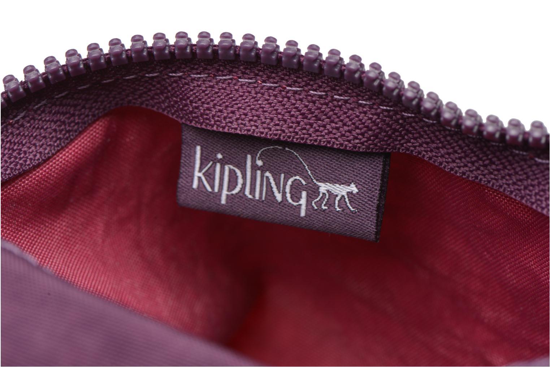 Kleine lederwaren kipling Iaka Roze achterkant