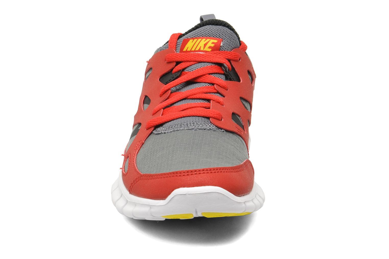 Sportschuhe Nike Nike Free Run 2 (Gs) rot schuhe getragen