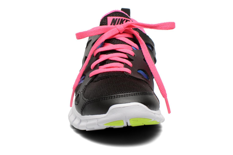 Sportschuhe Nike Nike Free Run 2 (Gs) schwarz schuhe getragen