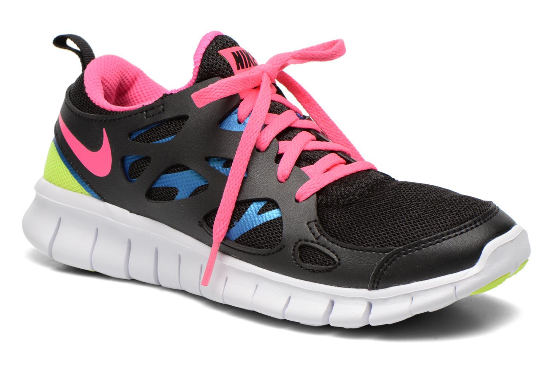 Nike Free Run 2 (Gs) Black/Pink Pow-Photo Blue-Volt