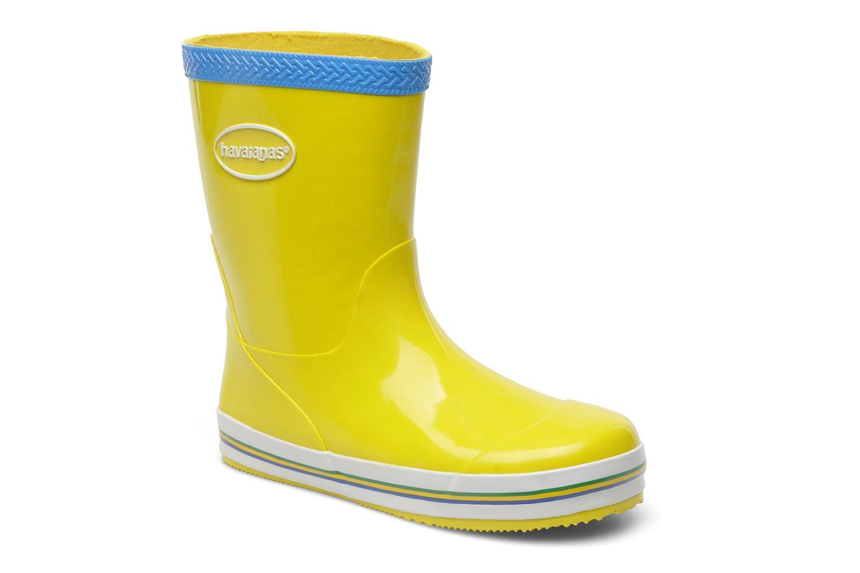 Aqua Kids Rain Boots Yellow Turquoise