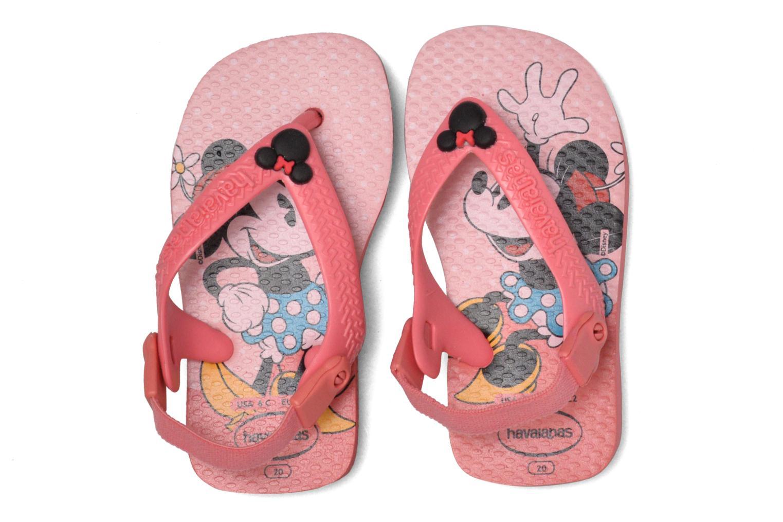 Flip flops Havaianas Baby Disney Classic Pink 3/4 view