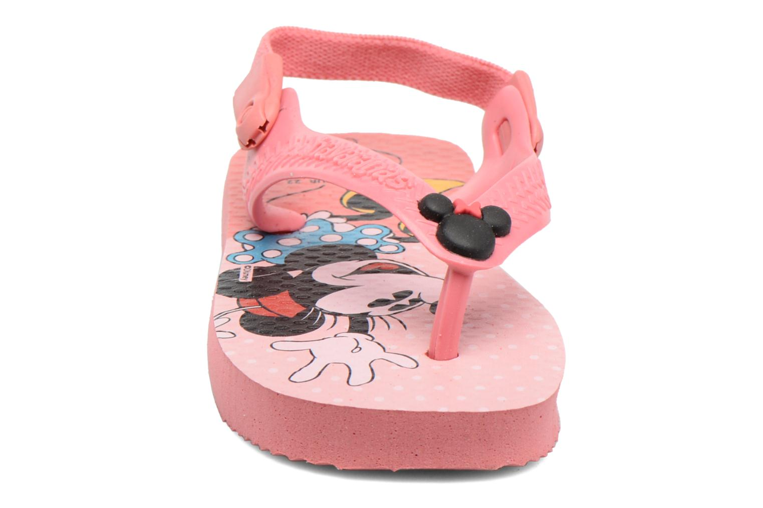 Tongs Havaianas Baby Disney Classic Rose vue portées chaussures