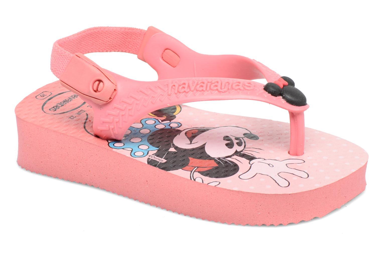 Flip flops Havaianas Baby Disney Classic Pink detailed view/ Pair view