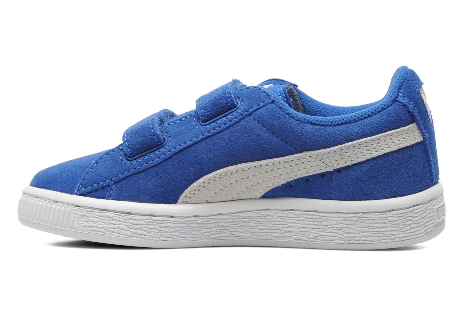 Trainers Puma Suede 2 Straps Kids. Blue front view