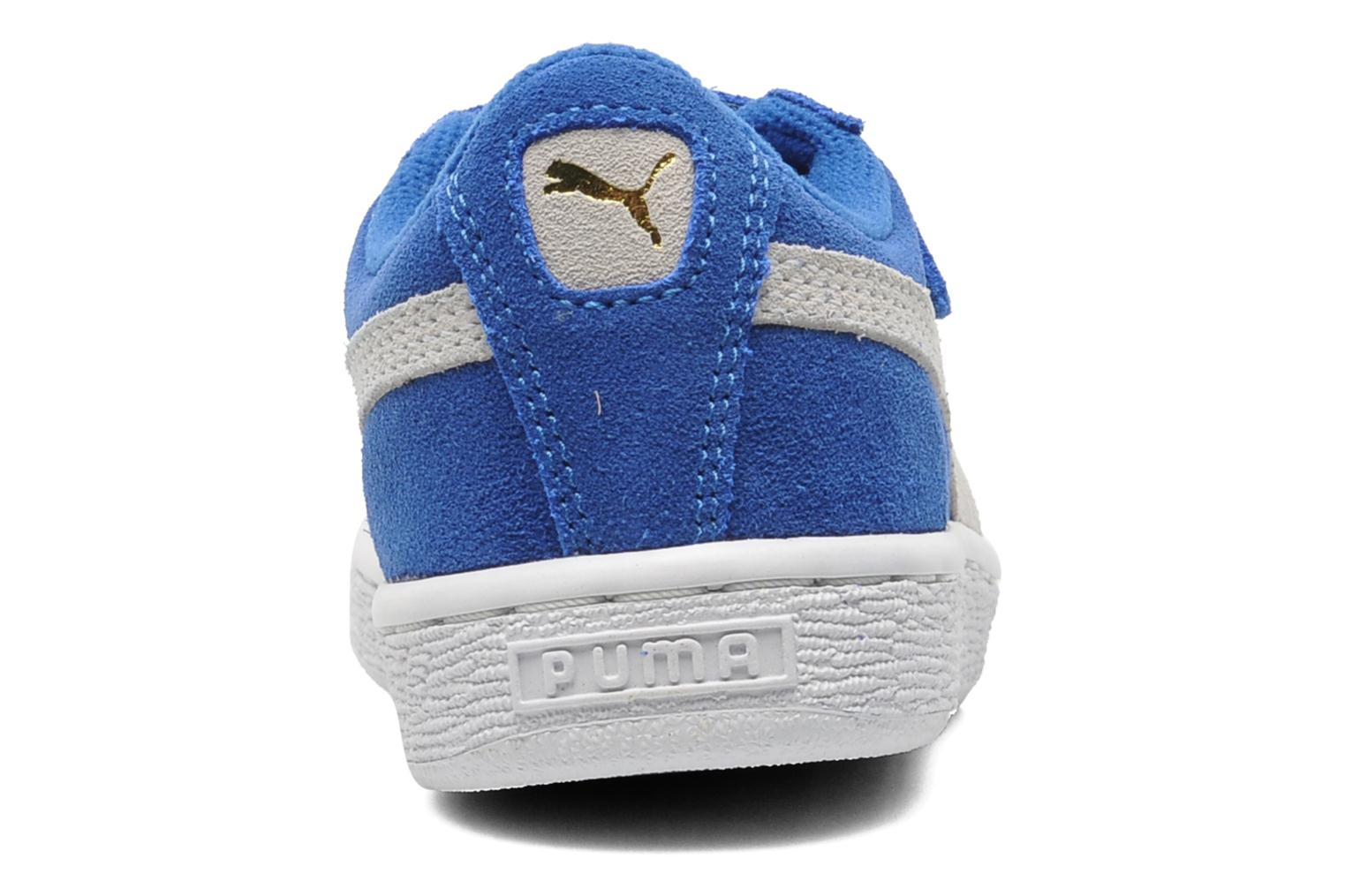 Trainers Puma Suede 2 Straps Kids. Blue view from the right