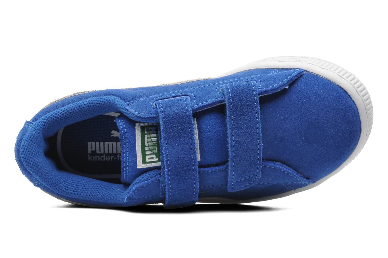 Baskets Puma Suede 2 Straps Kids. Bleu vue gauche