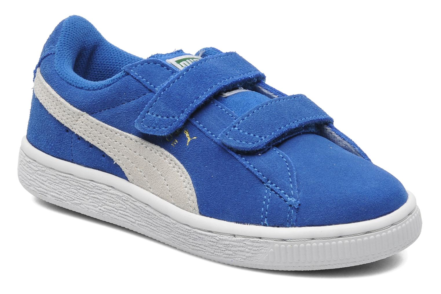 Trainers Puma Suede 2 Straps Kids. Blue detailed view/ Pair view