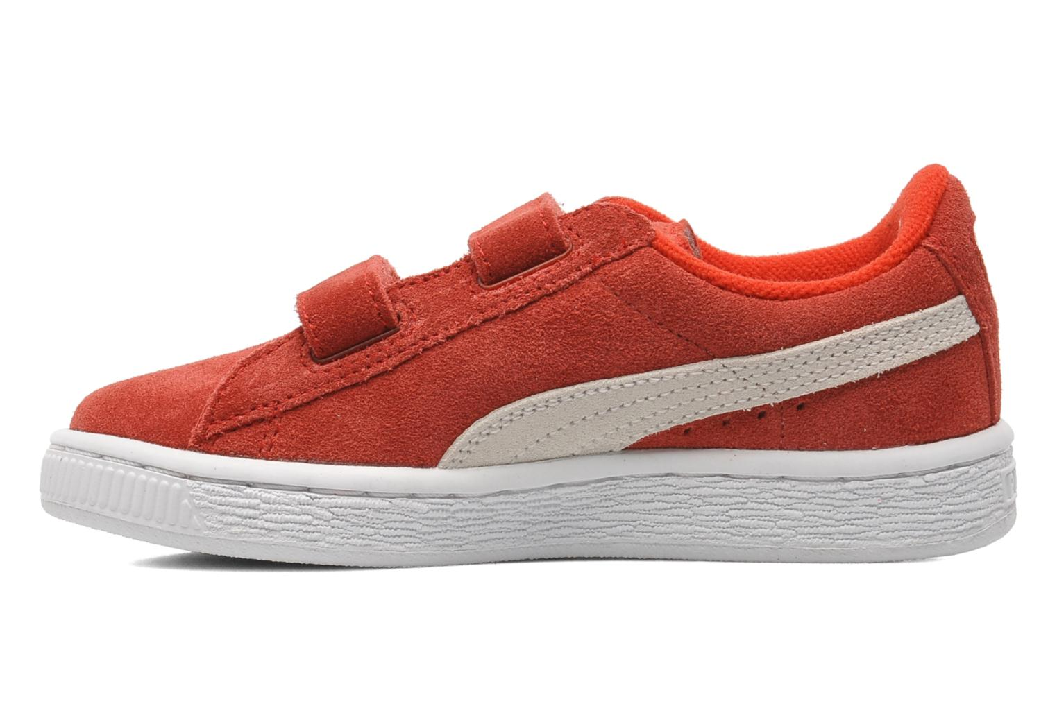 Trainers Puma Suede 2 Straps Kids. Red front view