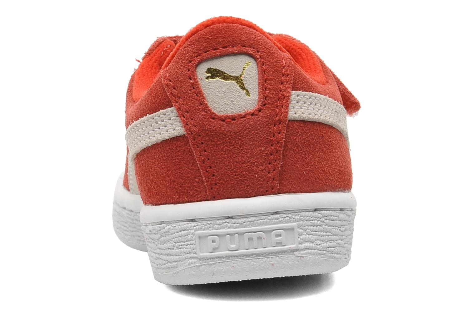 Suede 2 Straps Kids. RED-WH