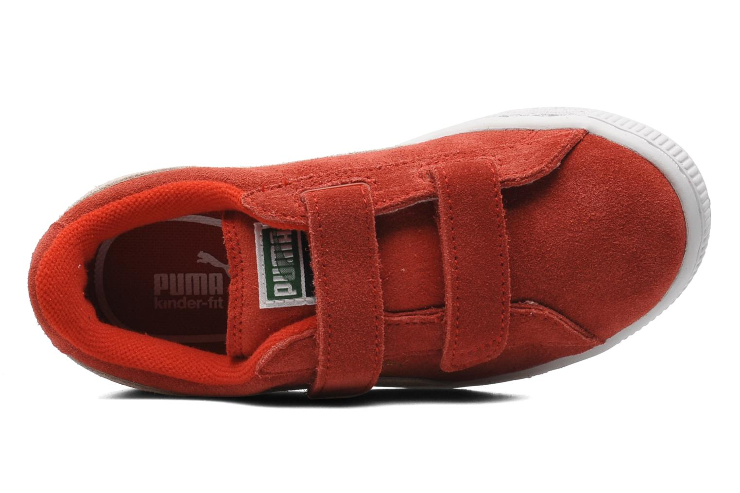 Trainers Puma Suede 2 Straps Kids. Red view from the left