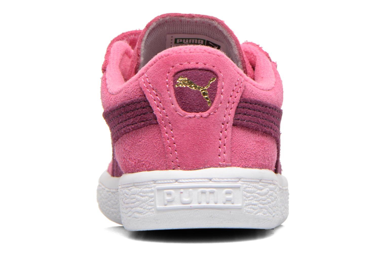 Baskets Puma Suede 2 Straps Kids. Rose vue droite