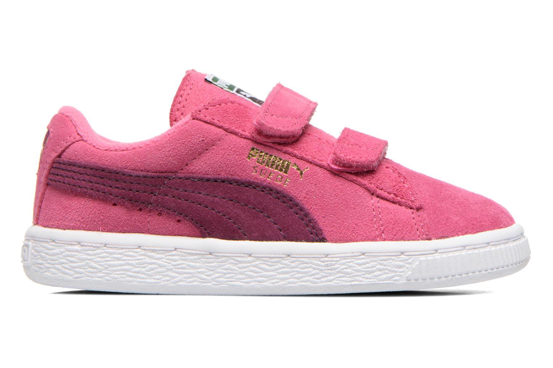 Sneaker Puma Suede 2 Straps Kids. rosa ansicht von hinten