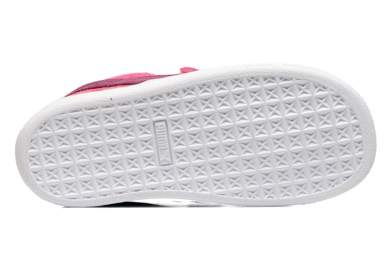 Sneaker Puma Suede 2 Straps Kids. rosa ansicht von oben