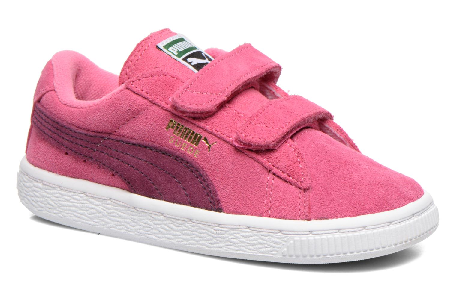 Suede 2 Straps Kids. Rose