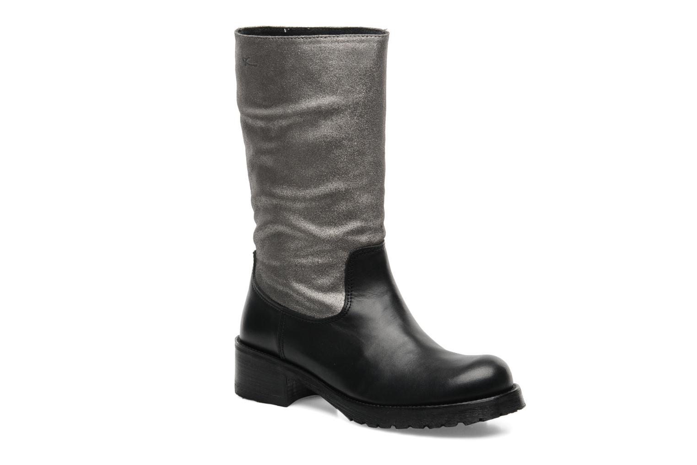 Ankle boots Pastelle Petalo Black detailed view/ Pair view