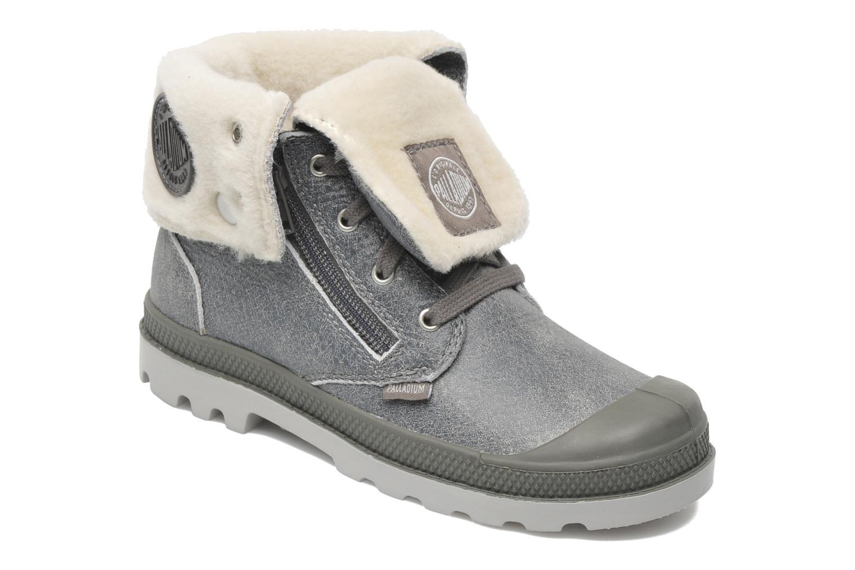Bottines et boots Palladium Baggy Leather K Gris vue détail/paire
