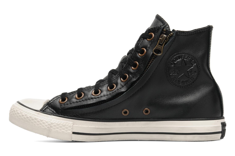 Baskets Converse Chuck Taylor All Star Rc Leather Double Zip Hi M Noir vue face