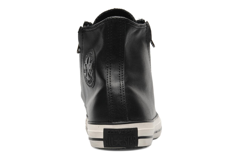 Baskets Converse Chuck Taylor All Star Rc Leather Double Zip Hi M Noir vue droite