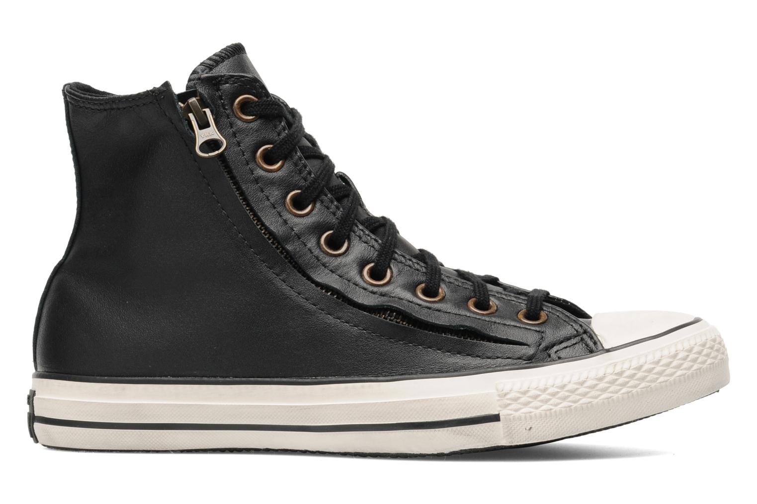 Baskets Converse Chuck Taylor All Star Rc Leather Double Zip Hi M Noir vue derrière