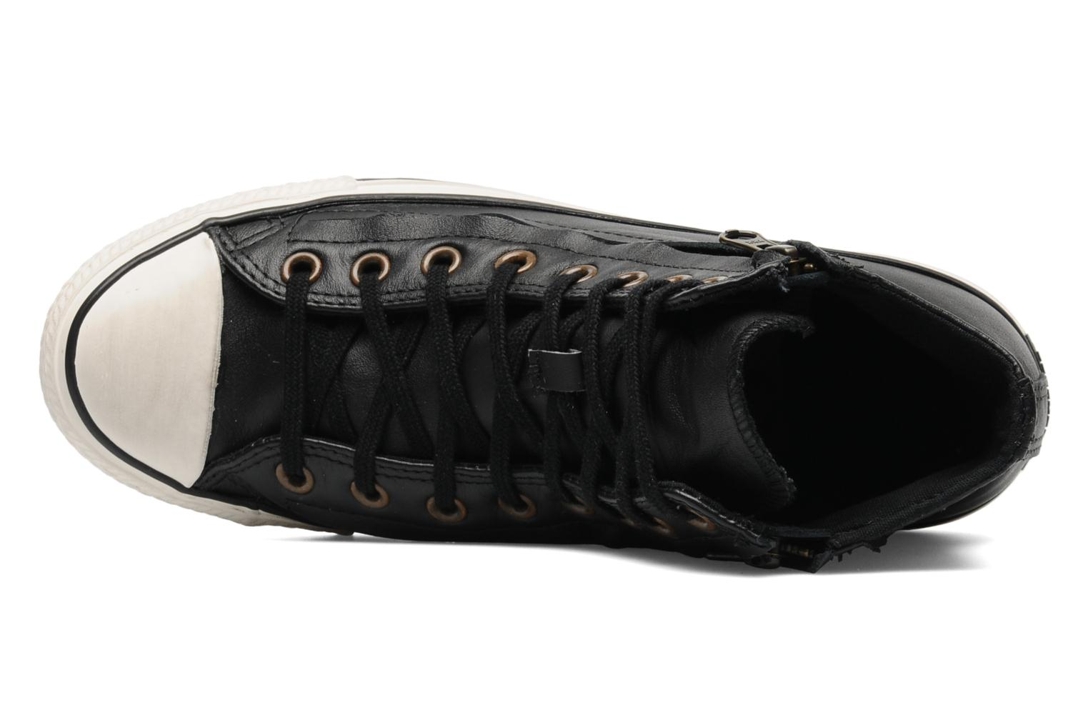 Baskets Converse Chuck Taylor All Star Rc Leather Double Zip Hi M Noir vue gauche