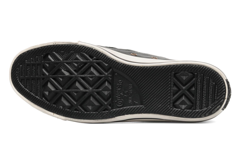 Baskets Converse Chuck Taylor All Star Rc Leather Double Zip Hi M Noir vue haut